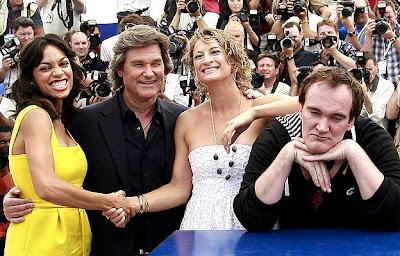 Rosario Dawson, Kurt Russell, Zoe Bell, Quentin Tarantino