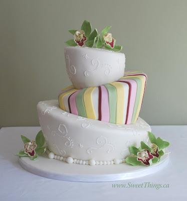 SweetThings Topsy Turvy Wedding Cake