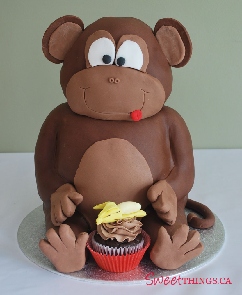 SweetThings 1st Birthday Cake Sweet Monkey Cake