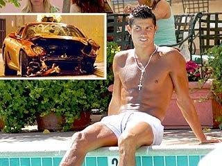 Soccer Star Cristiano Ronaldo Involved In Ferrari Accident