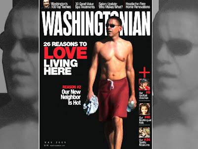 Barack Obama Swimsuit Pics on the cover of Washingtonian Magazine