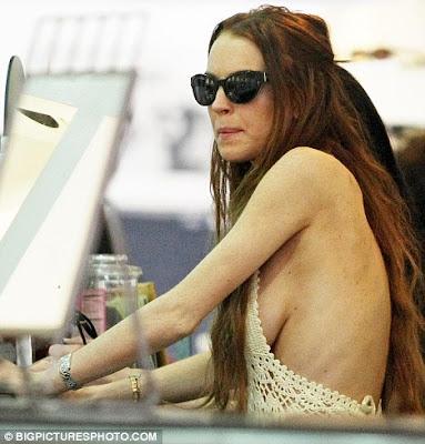 Lindsay Lohan Reveals Her Skinny Ribcage