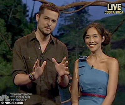 Myleene Klass and Damien Fahey co-host the first episode of I'm A Celebrity... Get Me Out Of Here!
