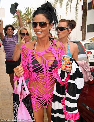 Katie Price Goes Shopping In hot Bikini