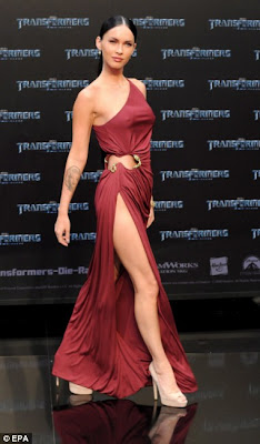 Megan Fox Flaunts Her Fabulous Figure in Revealing Red Gown