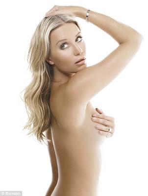 hot Denise Van Outen topless to Launch New Deodorant