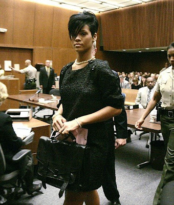 hot Rihanna at the LA Superior Court