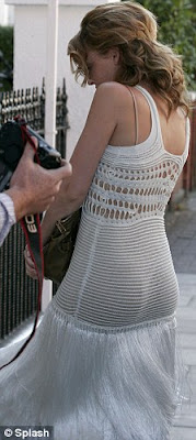 Kylie Minogue in a hot ,sexy,see-throgh crocheted dress,ass