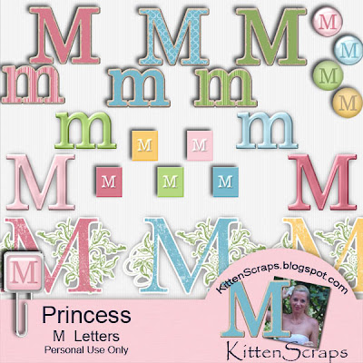 http://kittenscraps.blogspot.com/2010/01/princess-letter-m-freebie.html