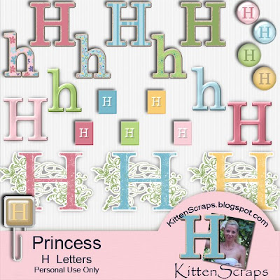 http://kittenscraps.blogspot.com/2009/11/princess-letter-h-freebie.html