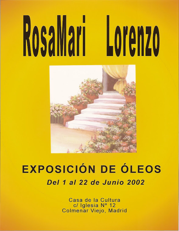 CARTEL DE UNA DE MIS EXPOSICIONES
