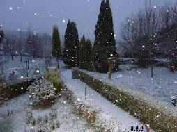 nevando en Alvidrón