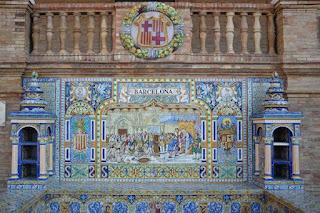 Plaza de España, Sevilla - Azulejo de Barcelona