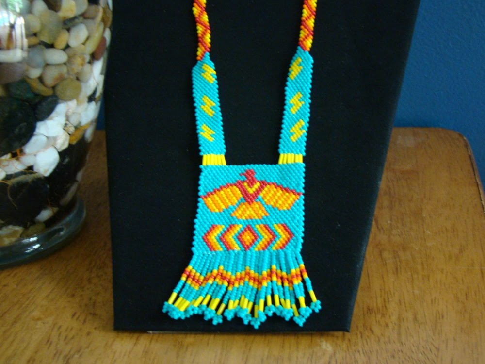 Ts Beading And More Native American Beaded Thunderbird Pendant
