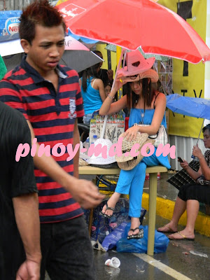The Wet and Sexy Cigarette Vendor on Sinulog Festival 2011