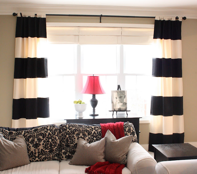 Black and white curtains for bedroom