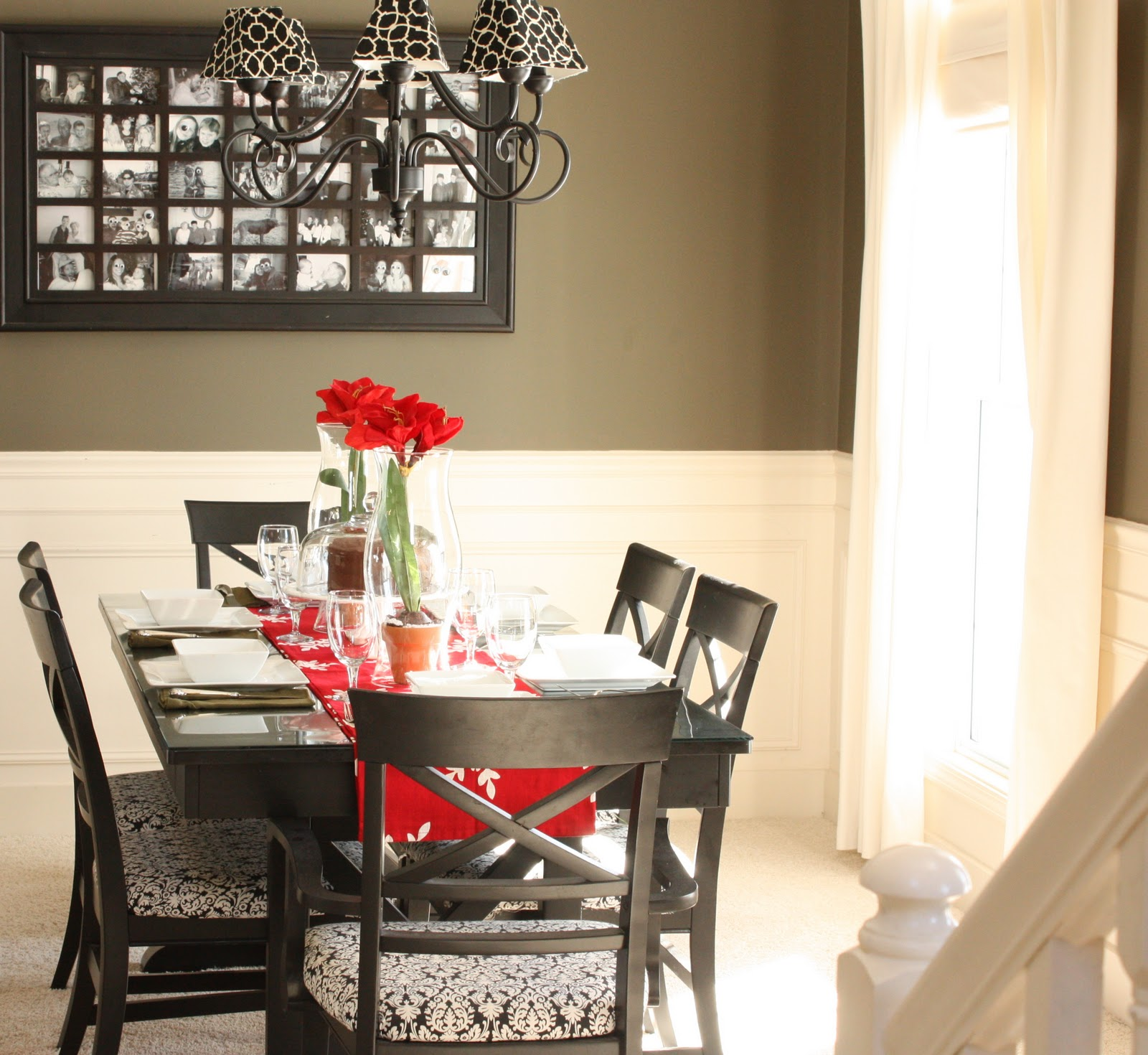 Furniture Dining Room Inspiration Red Gray White