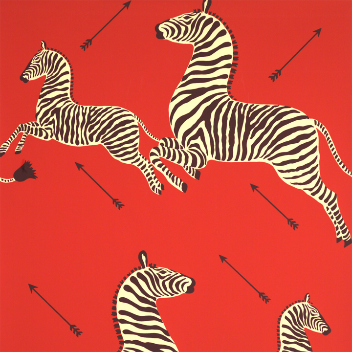 Duchess fare zebras leaping off the walls into the streets for Zebra wallpaper