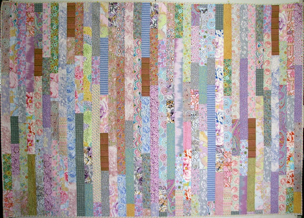 Quilt Patterns Using Stripe Fabric : Exuberant Color : Quilts with Kaffe Fassett Fabric
