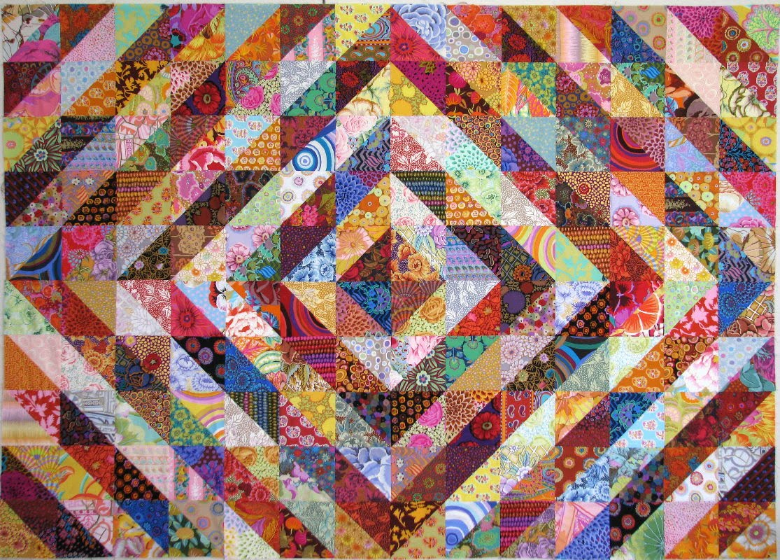 Barn Raising Quilt Pattern Free Knitting : Exuberant Color : Quilts with Kaffe Fassett Fabric