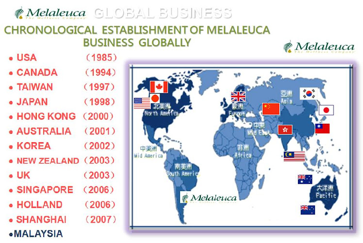 Melaleuca Expansion Countries