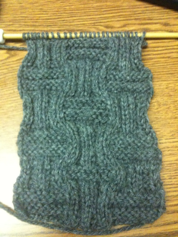 Knitting Knights Basket Weave Scarf