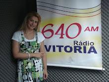 VALÉRIA RODRIGUES EM ENTREVISTA NA RÁDIO VITÓRIA 640 AM, NO ESTADO DO ESPÍRITO SANTO