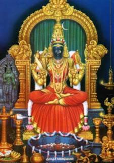 Kamatchi with Shri Chakra
