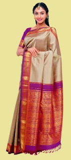 Model in Kanchipuram Sarees