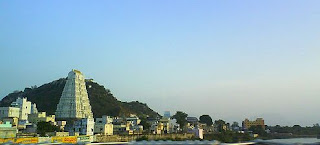 Sri Kalasthi town in dawn