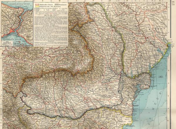 Harta României în anul 1901