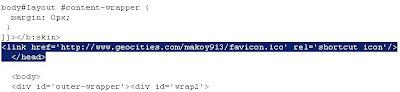 Favicon source code