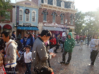 Disneyland Snowing Photo 8