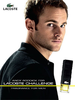 Andy Roddick Lacoste Fragrance Ad