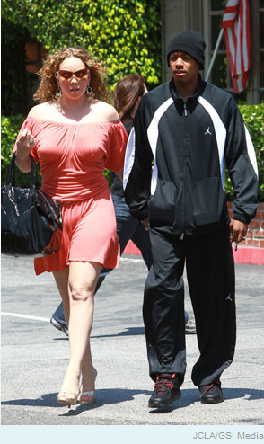 mariah carey fat. photo of Mariah Carey with