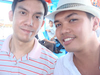 Makoy and Ton on Caticlan boat