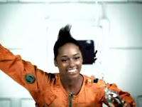 Alicia Keys in Superwoman astronaut