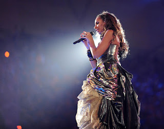Leona Lewis at the Beijing Olympics 2008