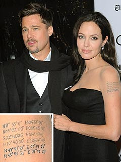 Angelina Jolie new tattoo Brad Pitt pictures scandal sex