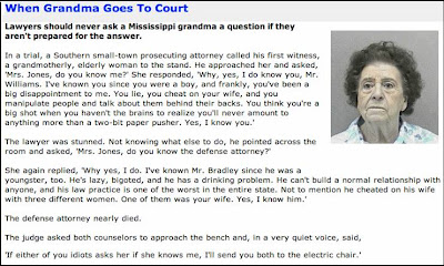 Grand Ma Goes To Court