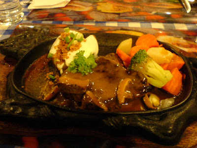 Steak with Mushroom Sauce and Mashed Potato