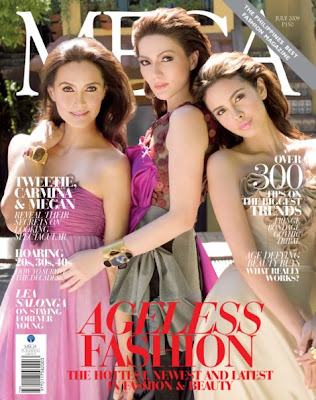 Tweeite De Leon, Carmina Villaroel and Megan Young in Mega Magazine July 2009