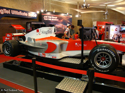 Singtel Sports Car At PC Show Photo 2