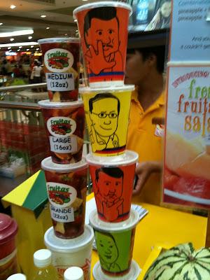Fruitas Political Ads Plastic Cups