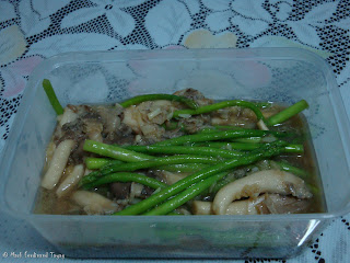 Asparagus and Oyster Mushroom in Oyster Sauce