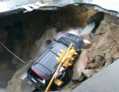 Sinkhole Swallows SUV in Wisconsin