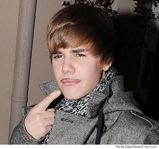 Justin Bieber in Moustache