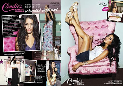 Vanessa Hudgens Replaces Britney Spears in Candie's Ad