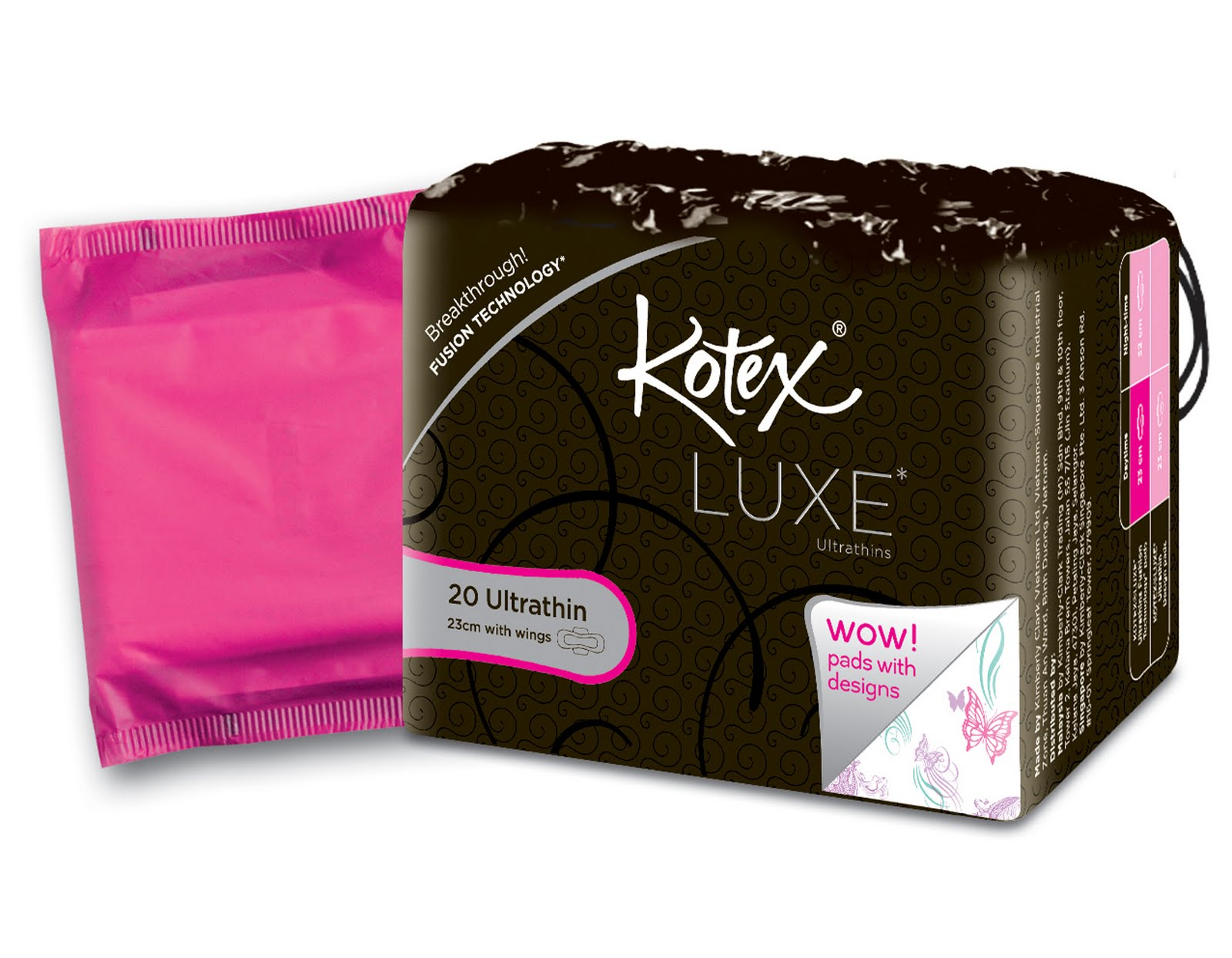 trendulge kotex luxe ultrathin design pads. Black Bedroom Furniture Sets. Home Design Ideas