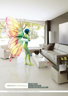 Publicité Connect Furniture - Du mobilier d'intérieur pour les geek